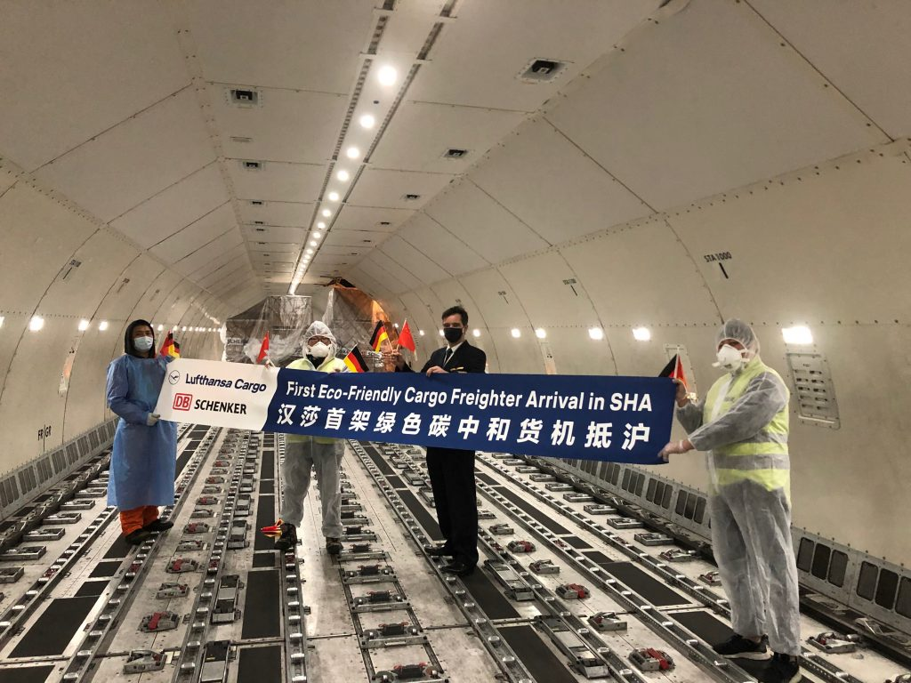 First carbon neutral cargo flight in history arrives in Shanghai