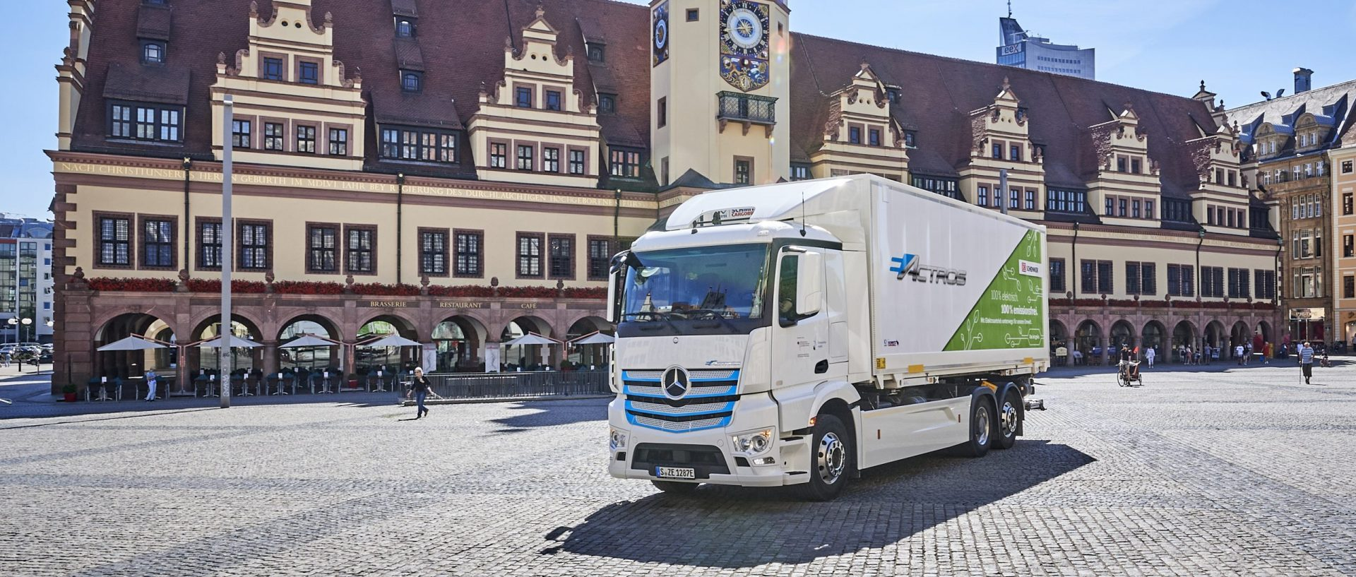 Electric truck in Leipzig, Germany