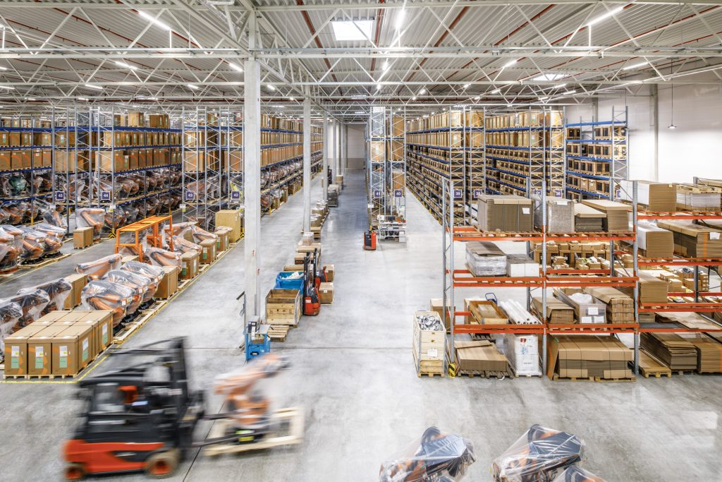 E-commerce logistics warehouse in Augsburg, Germany